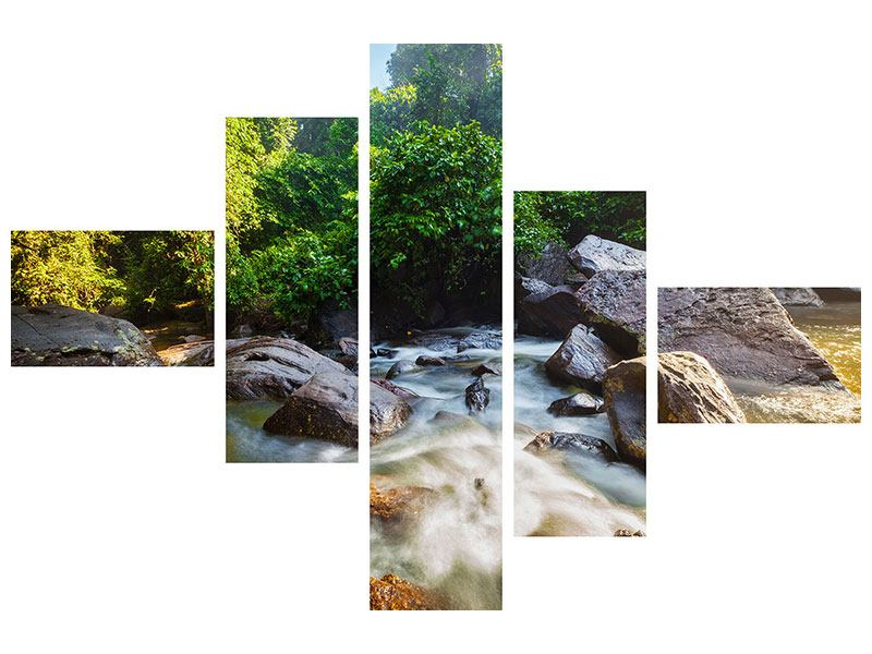 Modern 5 Piece Acrylic Print The Waters