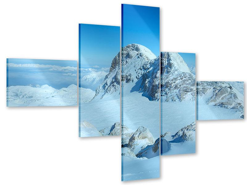 Modern 5 Piece Acrylic Print Above The Clouds