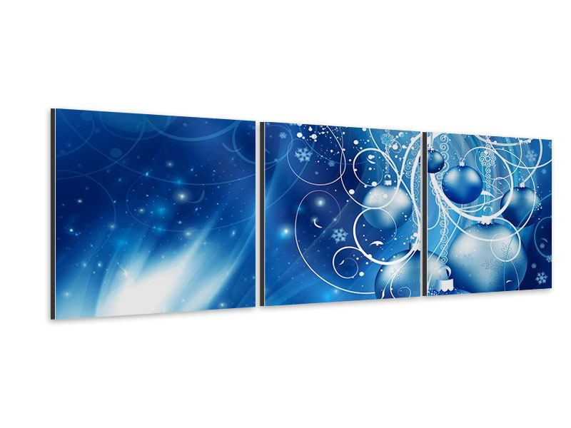 Tableau Aluminium en 3 parties Panoramique Cloches