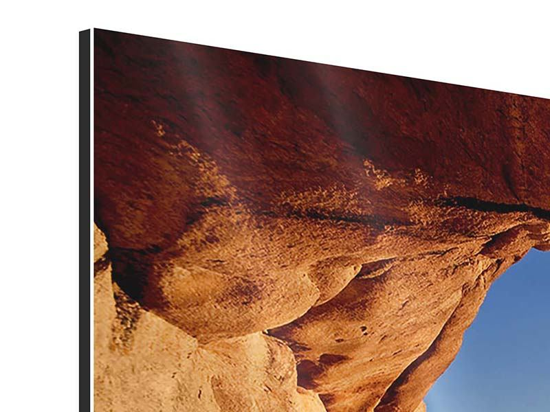 Modern 4 Piece Aluminium Print Sunset In Front Of The cave