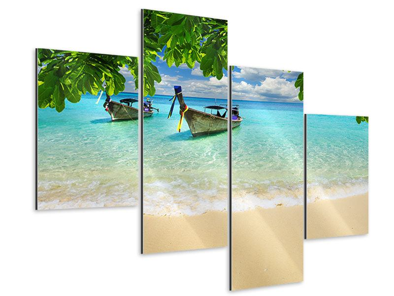 Modern 4 Piece Aluminium Print A View Of The Sea