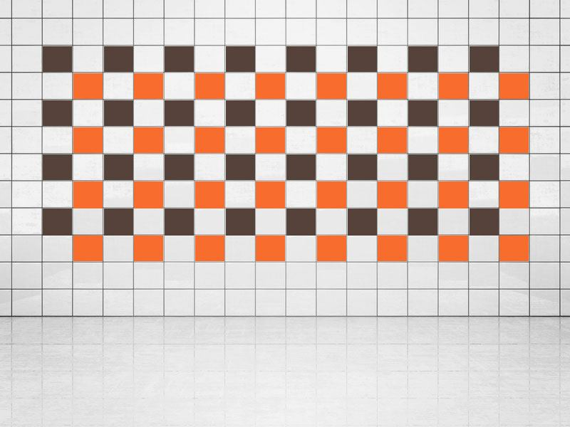 Tile Decor Orange (A705) and Fawn (A777-049) Set of 20