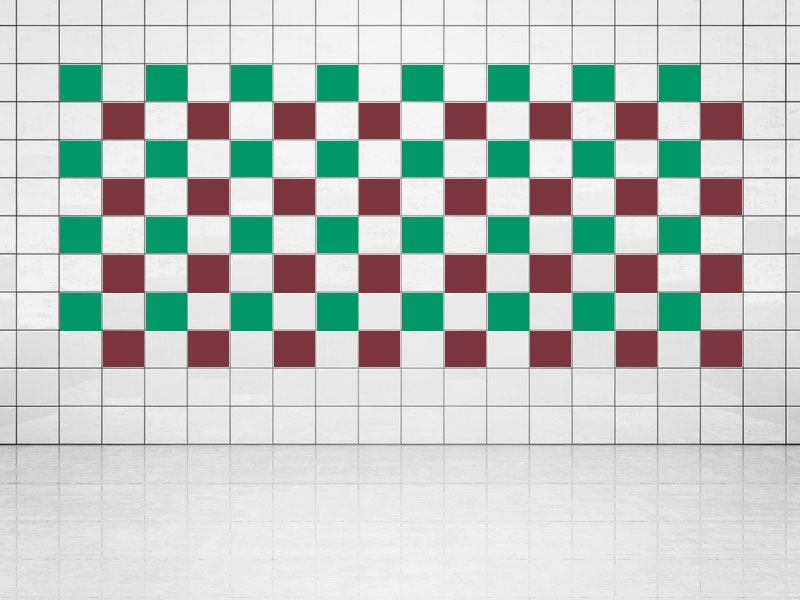 Tile Decor Whine Red (A778) and Green (A756) Set of 20