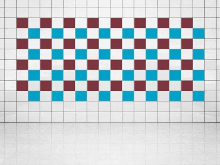 Tile Decor Sky Blue (A784) and Whine Red (A778) Set of 20