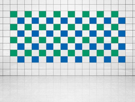 Tile Decor Blue (A733) and Green (A756) Set of 20