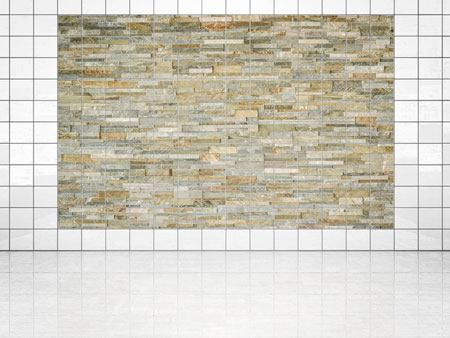 Tile Print Noble Stone Wall