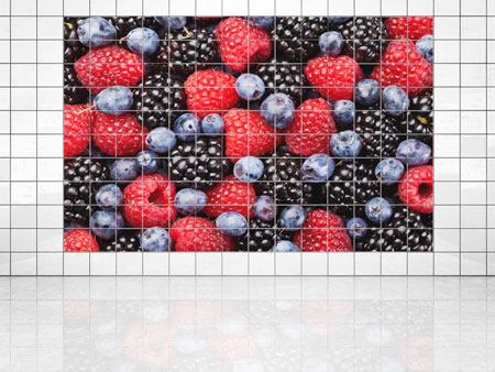 Tile Print Berries