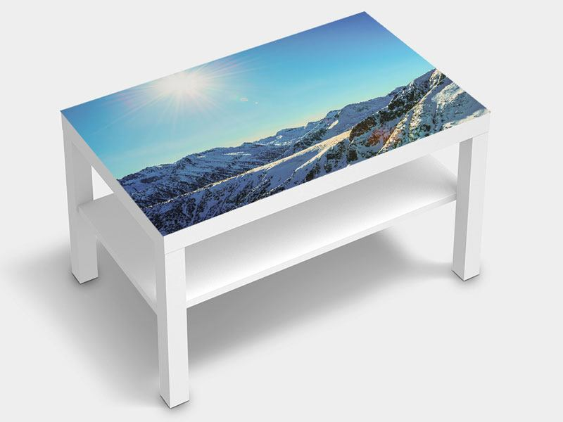 Furniture Foil Sunny Mountain Peaks In Snow