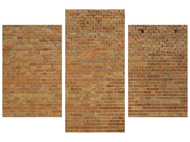 Modern 3 Piece Forex Print Brick Background