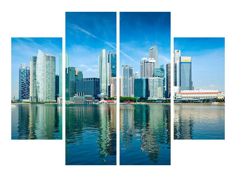 4 Piece Forex Print Skyline Mexico City