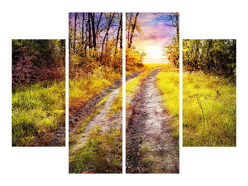 4 Piece Forex Print The Forest Path