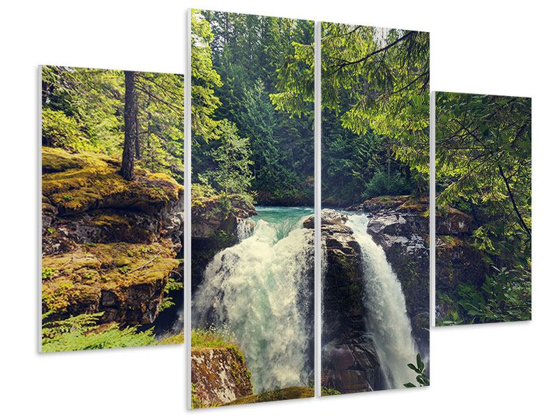 4 Piece Forex Print River Current
