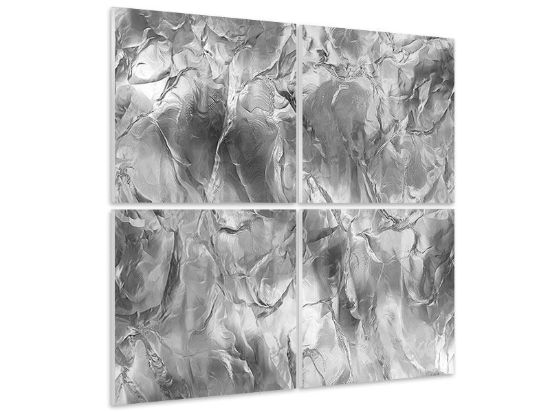 4 Piece Forex Print Ice Wall