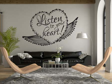 Wall Sticker Listen to your heart!