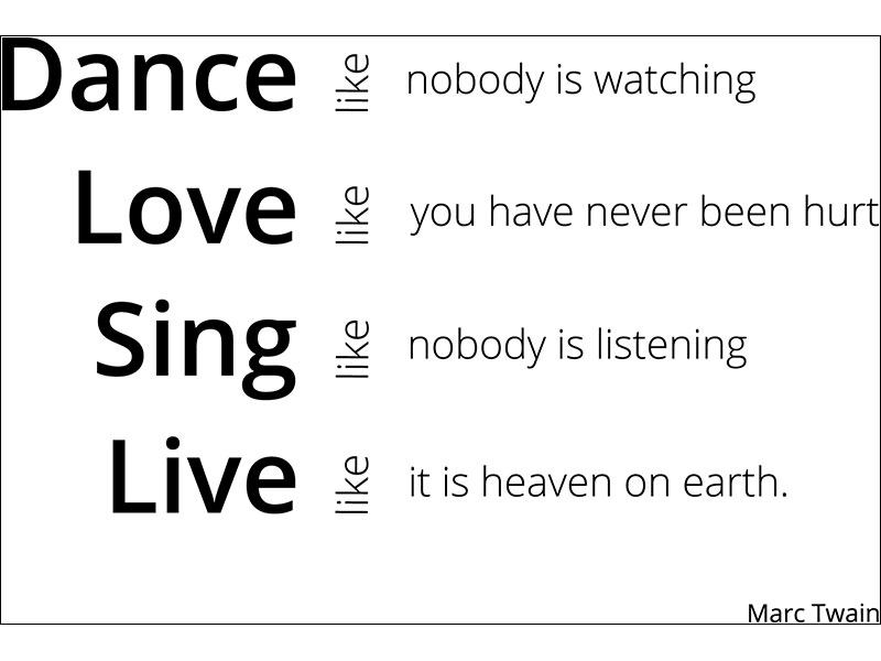 Sticker muraux Dance, Love, Sing, Live