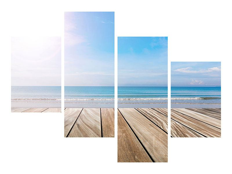 Modern 4 Piece Self-Adhesive Poster The Beautiful Beach House