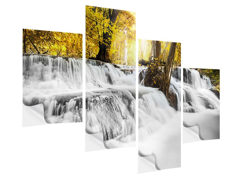Modern 4 Piece Self-Adhesive Poster Water In Action