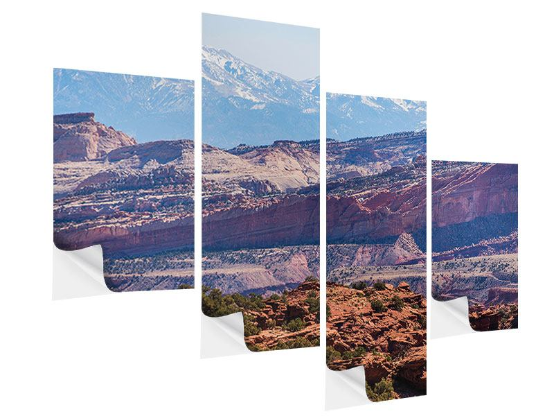Modern 4 Piece Self-Adhesive Poster Bruce Canyon National Park