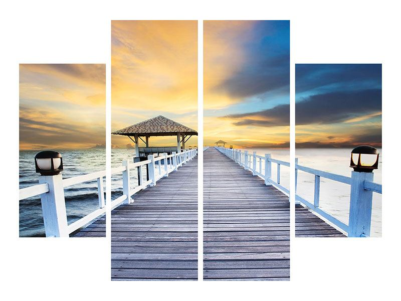 4 Piece Self-Adhesive Poster The Bridge Into The Sea