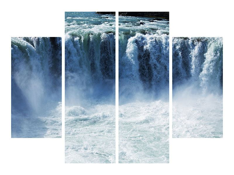 4 Piece Self-Adhesive Poster Mighty Waterfall