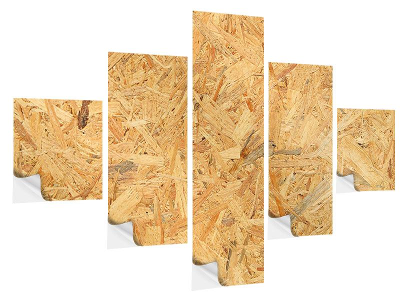 5 Piece Self-Adhesive Poster Pressed Wood