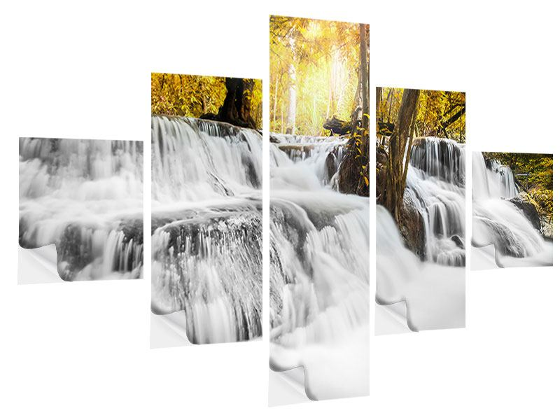 5 Piece Self-Adhesive Poster Water In Action