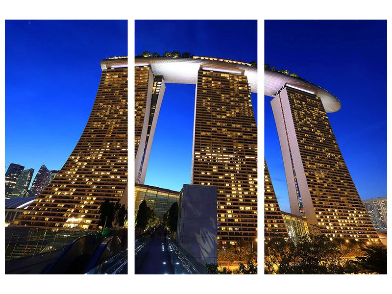 3 Piece Canvas Print Skyscraper Singapore