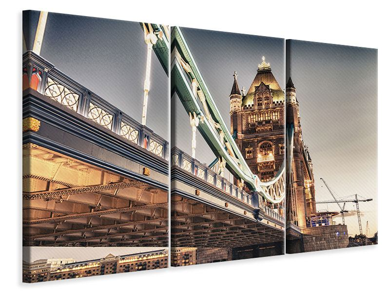3 Piece Canvas Print XXL Tower Bridge