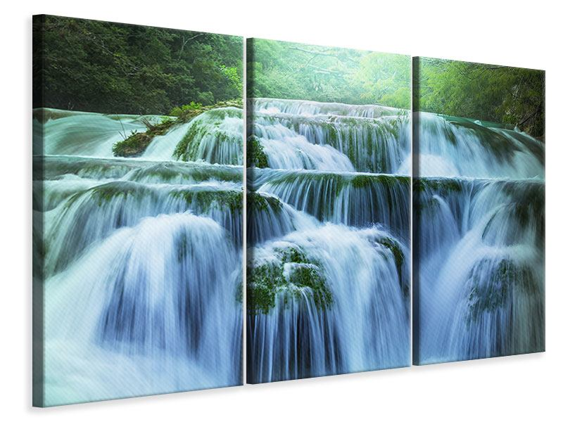 3 Piece Canvas Print Giant Waterfall