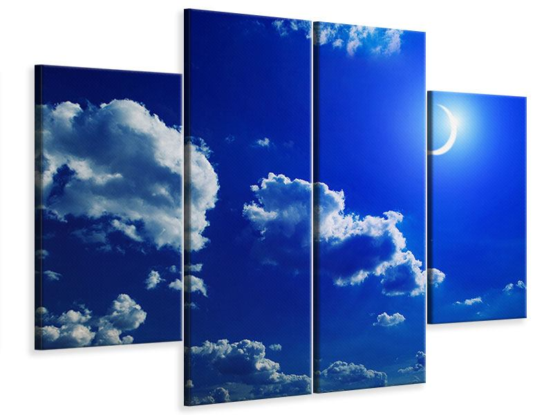 4 Piece Canvas Print The Moon