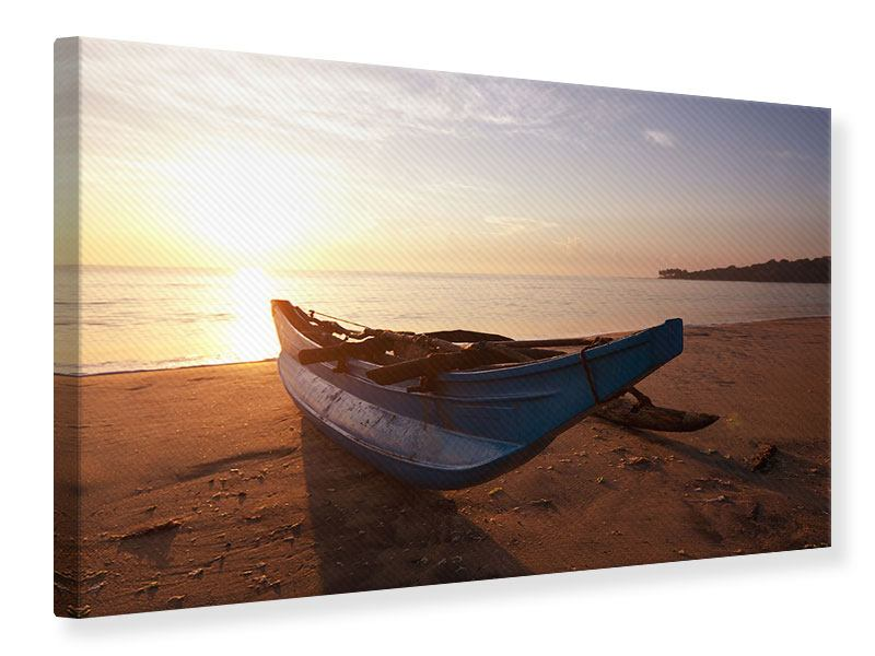 Canvas Print The Stranded Boat