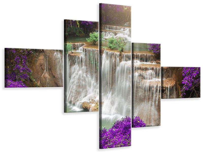 Modern 5 Piece Canvas Print Photowallpaper Garden Eden