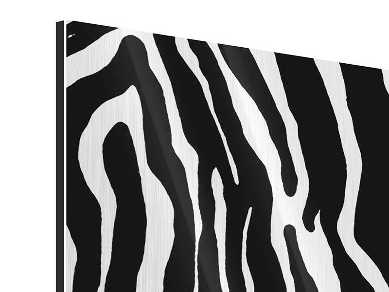 Panoramic Metallic Print Photo Wallaper Zebra Pattern
