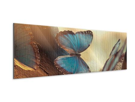 Panoramic Metallic Print Butterflies