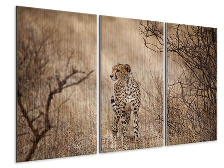 3 Piece Metallic Print Elegant Cheetah