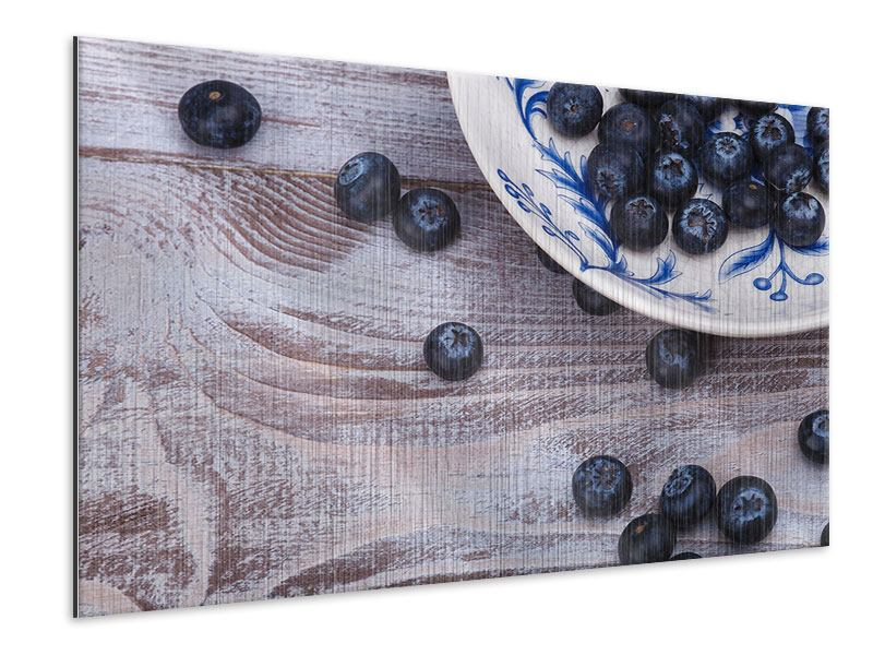 Metallic Print Blueberries