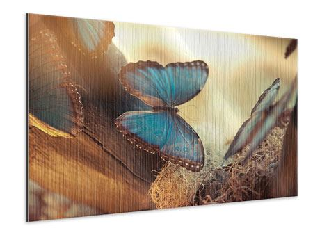 Metallic Print Butterflies