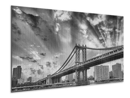 Metallic Print Manhattan Bridge