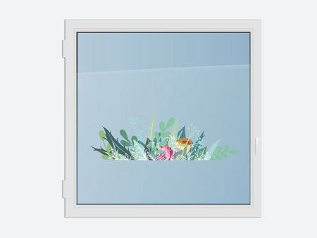 Window Sticker Colorful flower meadow