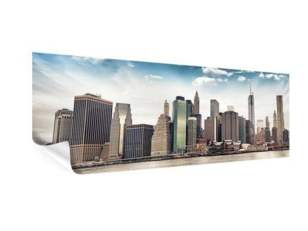 Poster Panoramica New York City dall'altra parte