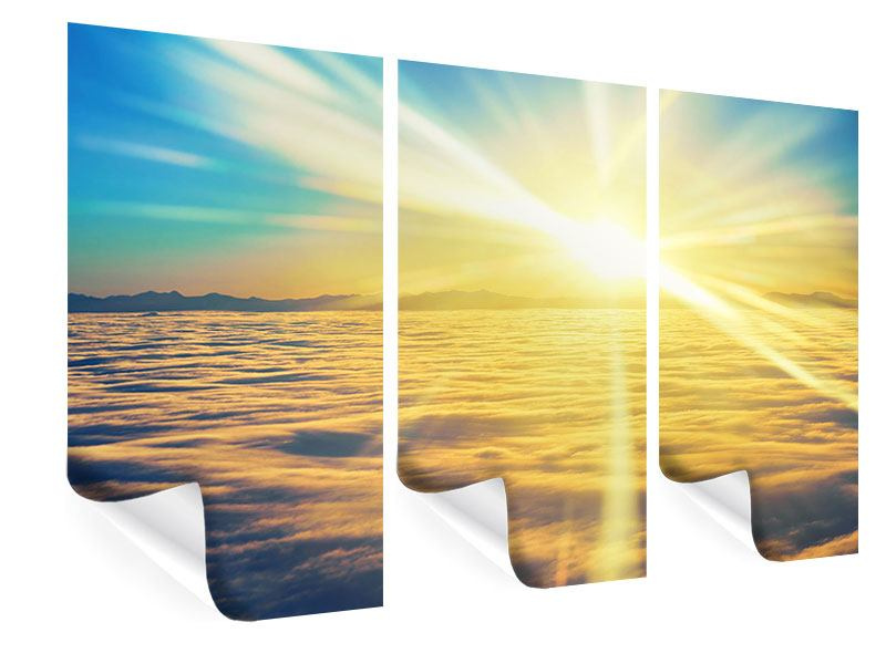 3 Piece Poster Sunset Above The Clouds