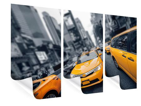 3 Piece Poster Taxi In NYC