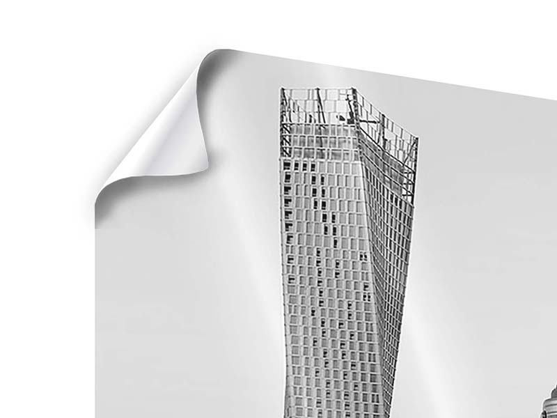 Modern 3 Piece Poster Majestic Skyscrapers In Dubai