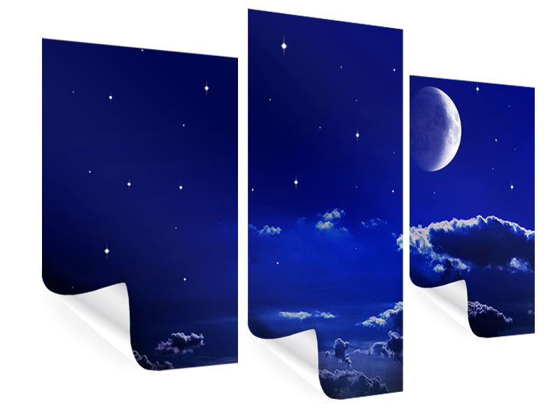Modern 3 Piece Poster The Night Sky