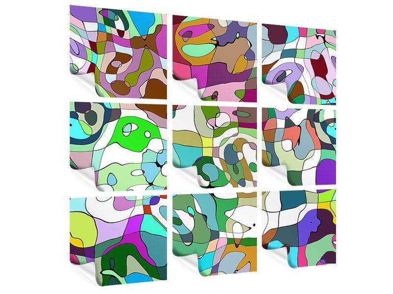 9 Piece Poster Cubist Paintings