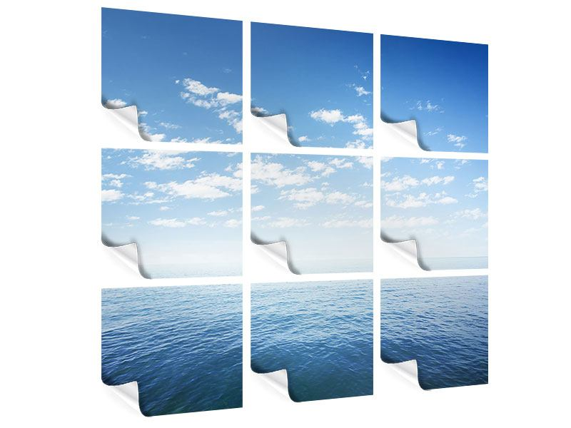 9 Piece Poster Infinity Sea
