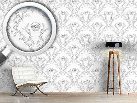 Design Wallpaper Petit Panier Gris