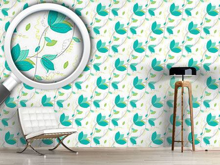 Design Wallpaper Frail Leaves