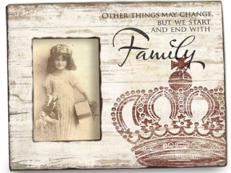Vintage Wooden Photo Frame FAMILY