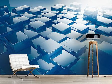 Photo Wallpaper 3D-Cubes